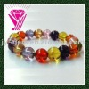 Semi-precious Colored cz Beaded Bracelet