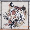 Marble Stone Mosaic Art Mural HHM-Tiger