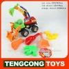 Sandy car set/ plastic beach toys 6pcs