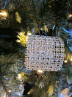 Rhinestone Bling Christmas Ornament Rings Perfect Decor Christmas Tree