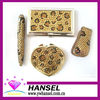 Leopard stationary set 4pcs