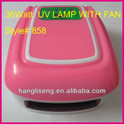 Color Pink 36W Nail Gel UV Lamp