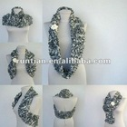 2012 New Women's Crocheted Fluffy neck warmer round scarf