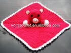 100% hand crocheted baby security blanket made in China (KCC-HCB0019)