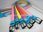 colourful belt with metal buckle for teenages