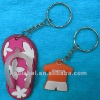 custom pvc rubber shoe keychain