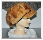 Mink fur hat---mink skin piece together
