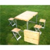 wooden outdoor foldable table
