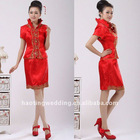 fashionable bright red Chinese favor cheongsam