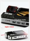 IR Night Vision High resolution dual lens I1000 car dvr,720P