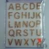 glitter sticker:ABC
