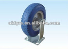 "blue PU tyre with metal rim 8""-250-4"