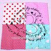 Most popular heart pattern twill silk scarf retail