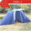 FAMILY VIS A VIS TENT, 4 PERSON CAMPING TENT, OUTDOOR TENT WITH TWO ROOM