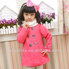 Children Frock Model Double Breasted Bowknot Coat For Baby GIrl
