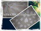 cotton polyester burn out single jersey fabric
