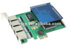 SinoV-420DE-EC 4 ports selectable E1 (32-channel) or T1 (24-channel) card