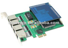 SinoV-420DE-EC 4 ports selectable E1 (32-channel) or T1 (24-channel) card