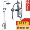 BC201 brass chrome plating shower mixer set,shower faucet,rainfall shower set,bathroom tap
