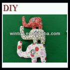 Fabric elephant animal button eyes craft mobile phone strap