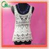 Fashion lady's lace top/waistcoat /crochet lace top