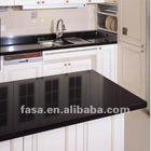 Pure black quartz Countertops for Kitchen