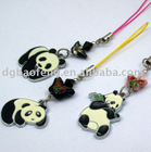 zinc alloy mobile phone chain with zhe panda