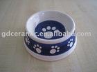 Round Ceramic Cat Bowl Dog Bowl