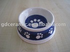 Round Ceramic Cat Bowl Dog Bowl