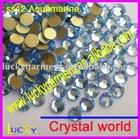 flat back rhinestone DIY nailart decoration crystal ss12 3.2mm aquamarine