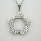 Wholesaler flower necklaces women jewelry or jewelry set with rhinestones