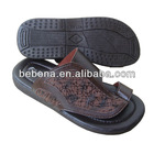 2013 classic design brown PU slipper for men
