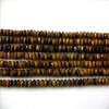 Faceted Abacus Shape Natural Tiger's Eye Loose Strand
