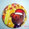 Metal tin plated button shape badge/pin badge