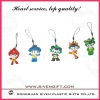 Olympic souvenirs lovely Fuwa pvc mobile phone string for