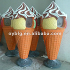 fiberglass garden decoration-creative ice cream trash bin,ash bin