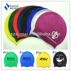 Slicone swimming cap for adults colorful can oem &odm