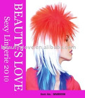Shoulder length spiky punk costume wig