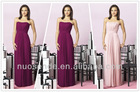 Strapless Chiffon Goddess Long Gown Prom Dress Formal Junior Plus Size Bridesmaid Dresses