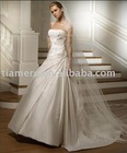 Satin Embroidered Strapless Sexy bridal wedding dress