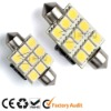 AC/DC10-25V SV8.5 9SMD LED Festoon auto led lights