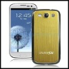 Gold Metallic Brushed Replacement Battery Cover with Black Frame for Samsung Galaxy SIII / i9300