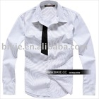 2010 White Men's Shirt With Long Sleeve