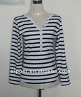Women's fashion striped Y/D T-shirt