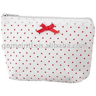 Sweet Ribbon with Red and White Lace Cosmetic Pouch