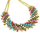 spring and autumn colored oversized metal collar choker necklace,NL-1926