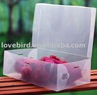 clear women's Plastic Shoe Boxes