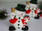 Christmas Snowman Outdoor Candle