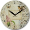 2012 decorative and fashionable butterfly wall clock