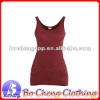 women's 100% cotton wholesale plain tank tops